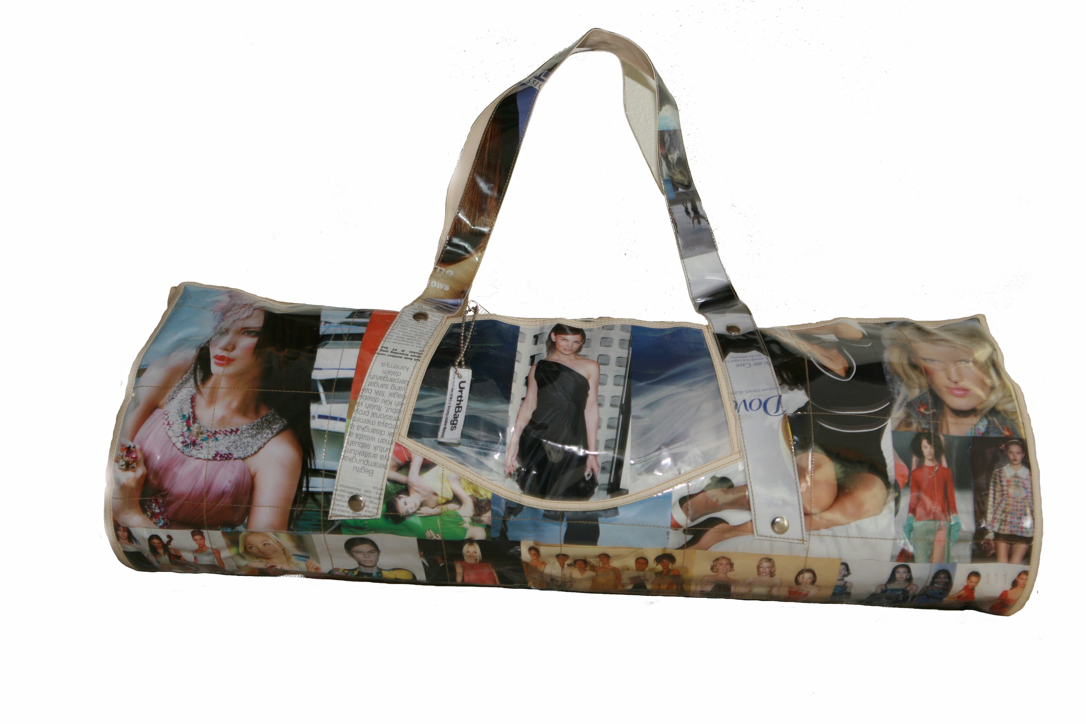 """How to Make a Recycled Tote Bag or Purse Many stores now have a """"bring your own bag"""" policy to encourage the use of reusable shopping bags. While this is great for the environment, it usually means you end up buying some form of cheap fabric bag, printed with ."""